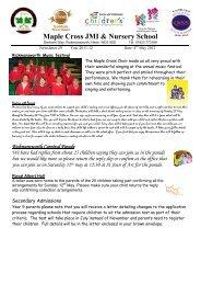 Week 29 - 4th May - Maple Cross JMI & Nursery School