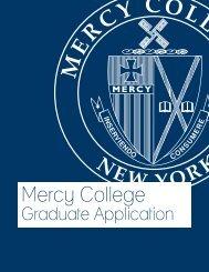 Graduate Application - Mercy College