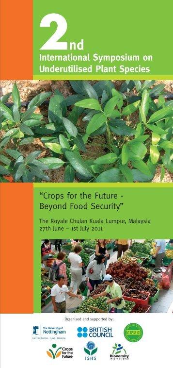 2International Symposium on Underutilised Plant Species