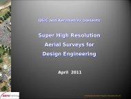 Super High Resolution Aerial Surveys for Design ... - Data Smart