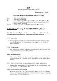Protokoll der Vorstandssitzung vom 19.01.2009 ... - Weldergoven