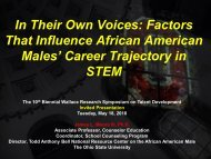 In Their Own Voices: Factors That Influence African American Males