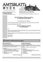 Spruch der Woche - Stadt Herbolzheim