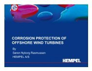 CORROSION PROTECTION OF OFFSHORE WIND TURBINES