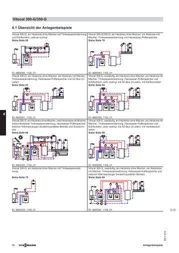 5 1 bersicht der anwendungsbeispiele vitocal 200 s 222 s 242 s 5. Black Bedroom Furniture Sets. Home Design Ideas