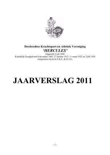 JAARVERSLAG 2011 - Hercules Dordrecht