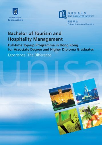 Bachelor of Tourism and Hospitality Management - College of ...