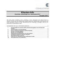 Steuertipps für alle Steuerpflichtigen - CONSULTATIO