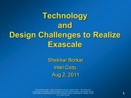 Technology and Design Challenges to Realize Exascale