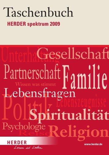 Lebenszeugnisse Religion Spiritualität  - Verlag Herder