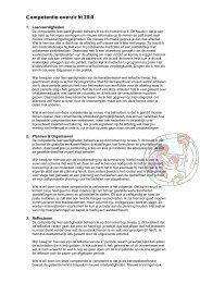 Competentie-overzicht 2010