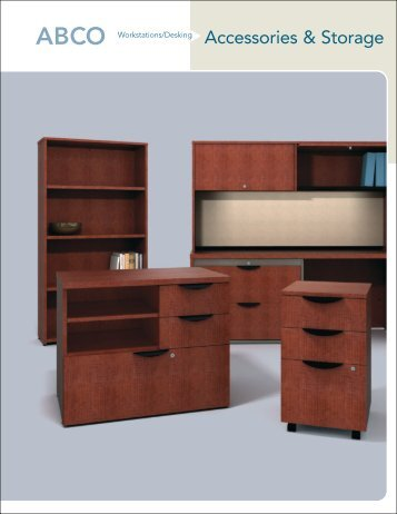 accessories storage brochure abco office furniture