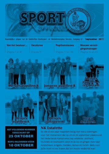 Sportkompas september 2011 - Hercules Dordrecht