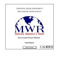 2000 MWR Leisure Needs Survey Final Report - MWR Fort Leonard ...