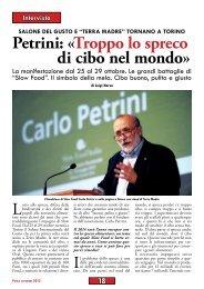 Petrini: «Troppo lo spreco di cibo nel mondo» - Anpi