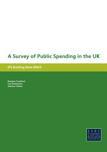 A Survey of Public Spending in thUK - The Institute For Fiscal Studies