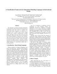 A Classification Framework for Educational Modeling Languages in ...