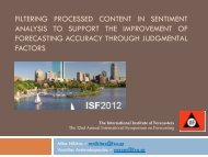 filtering processed content in sentiment analysis - International ...