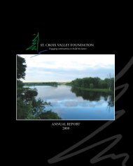ANNUAL REPORT 2009 ST. CROIX VALLEY FOUNDATION - folio