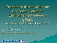 Cellule de Conseil en Santé et Environnement Intérieur - Académie ...