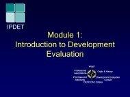 Module 1: Introduction to Development Evaluation
