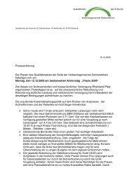 Presseerklärung Die Praxen des Qualitätsnetzes der Ärzte der ...