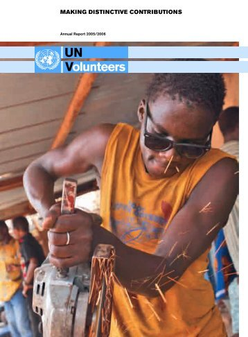 MAKING DISTINCTIVE CONTRIBUTIONS - United Nations Volunteers