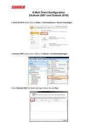 E-Mail Client Konfiguration (Outlook 2007 und Outlook 2010)