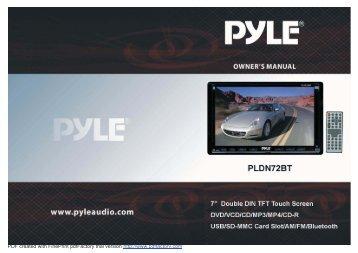 PLDN72BT - Manuals - Qualitycaraudio.com