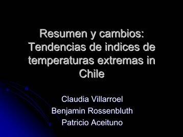 Tendencias y cambios en temperaturas extremas