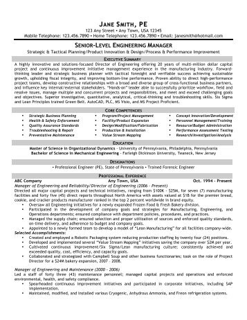 Director of Engineering - Front Runner Resume Writing