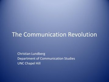 The Communication Revolution - World View