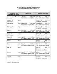 SCHOOL BOARD OF OKALOOSA COUNTY 2012 REGULAR ...
