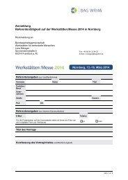 Anmeldung Referententätigkeit auf der Werkstätten:Messe 2014 in ...