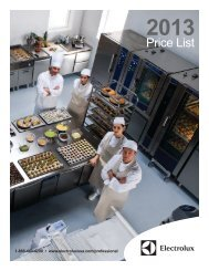 Price List - Electrolux Professional Inc.