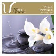 CARTA DE TRATAMIENTOS - Barcelo.com
