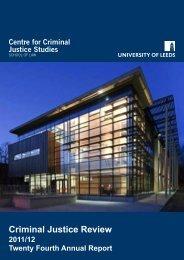 Twenty Fourth Report 2011 to 2012 - School of Law - University of ...