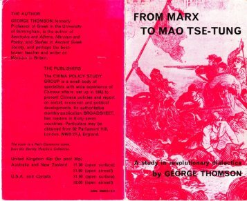 From Marx to Mao Tse-tung - BANNEDTHOUGHT.NET