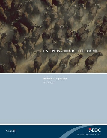 Prévisions à l'exportation - Automne 2011 - Sommaire - EDC