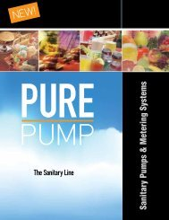 Sanitary Pumps & Metering Systems - Consolidated Pumps