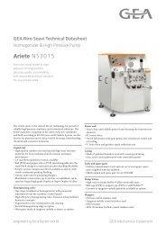 GEA Niro Soavi Ariete NS3015 Tech Sheets ENG Rev05 2012 Flash ...