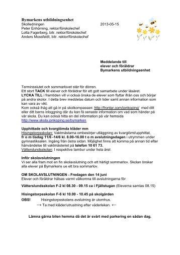 Klicka här för att läsa skolledningens sommarbrev 2013 - Skola ...