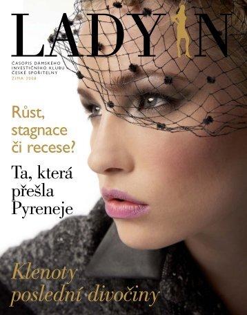 třetí číslo časopisu Lady In - Dámský investiční klub České spořitelny
