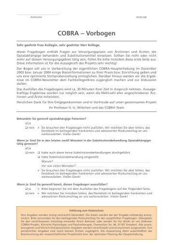 Vorbogen - PREMOS-Studie