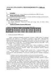 analiza finansowa przedsiębiorstwa zeelandia bake sp - Łomża