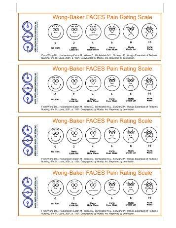 Wong-Baker FACES Pain Rating Scale Wong-Baker FACES Pain ...
