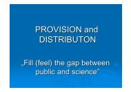 Provision and Distribution - PHGEN