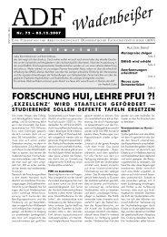 Wadenbeißer Nr. 72 vom 03.12.2007 [PDF] - ADF ...