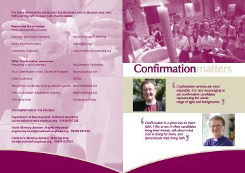 Confirmation Leaflet.qxp - Diocese of Southwell & Nottingham