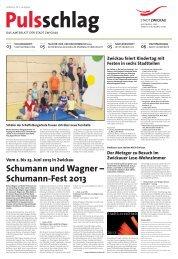 Schumann und Wagner – Schumann-Fest 2013 - Stadt Zwickau